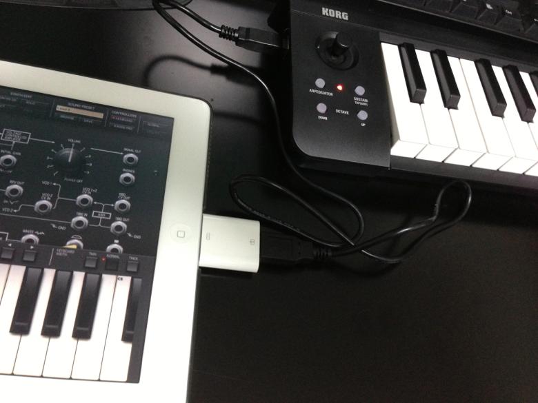 [MIDIキーボード] iPad + KORG microKEY-25