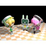 [マスコットアプリ文化祭] クエリちゃんのリズちゃんとウサPモデル